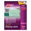 Avery Clear Easy Peel Shipping Labels, Laser, 2 x 4, 500/Box