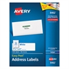 Avery Easy Peel Mailing Address Labels, Inkjet, 1 1/3 x 4, White, 1400/Box