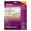 Avery Clear Shipping Labels, Inkjet, 8 1/2 x 11, 10/Pack