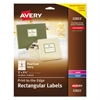 Avery Rectangle Print-to-the-Edge Labels, 3 x 3 3/4, Pearl Ivory, 48/Pack
