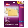 Avery Clear Easy Peel Return Address Labels, Inkjet, 2/3 x 1 3/4, 600/Pack
