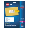 Avery Shipping Labels with TrueBlock Technology, Inkjet, 2 x 4, White, 100/Pack