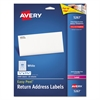 Avery Easy Peel Return Address Labels, Laser, 1/2 x 1 3/4, White, 2000/Pack