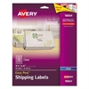 Avery Clear Easy Peel Shipping Labels, Inkjet, 3 1/3 x 4, 60/Pack