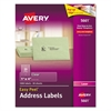 Avery Clear Easy Peel Address Labels, Laser, 1 x 4, 1000/Box