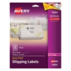 Avery Clear Easy Peel Shipping Labels, Laser, 3 1/3 x 4, 60/Pack