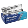 Pop-Up Interfolded Aluminum Foil Sheets, 12 x 10 3/4, Silver, 500/Box