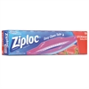Ziploc Double Zipper Storage Bags, 9 3/5 x 12 1/10, 1gal, 1.75mil, Clear, 20/BX,12BX/CT
