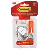Command General Purpose Hooks, 0.5lb Capacity, Wire, White, 28 Hooks, 32 Strips/Pack