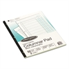 Wilson Jones Accounting Pad, Two Eight-Unit Columns, 8-1/2 x 11, 50-Sheet Pad