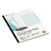 Wilson Jones Accounting Pad, Five Eight-Unit Columns, 8-1/2 x 11, 50-Sheet Pad