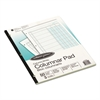 Accounting Pad, Three Eight-Unit Columns, 8-1/2 x 11, 50-Sheet Pad