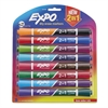 EXPO 2-in-1 Dry Erase Markers, 16 Assorted Colors, Medium, 8/Pack