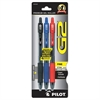 G2 Premium Retractable Gel Ink Pen, Refillable, Assorted Ink, .7mm, 3/Pack