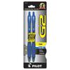 Pilot G2 Premium Retractable Gel Ink Pen, Refillable, Blue Ink, .7mm, 2/Pack