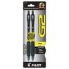 G2 Premium Retractable Gel Ink Pen, Refillable, Black Ink, .7mm, 2/Pack