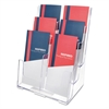 deflecto Multi Compartment DocuHolder, Six Compartments, 9 5/8w x 6 1/4d x 12 5/8h, Clear