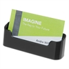 deflecto Recycled Business Card Holder, Holds 50 2 x 3 1/2 Cards, Black