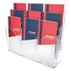 deflecto Three-Tier Document Organizer With Dividers, 14w x 3 1/2d x 11 1/2h, Clear