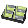Recycled Business Card Holder, Holds 400 2 x 3 1/2 Cards, Eight-Pocket, Black