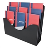 deflecto Three-Tier Document Organizer With Dividers, 14w x 3 1/2d x 11 1/2h, Black