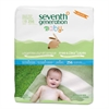 Seventh Generation Free & Clear Baby Wipes, Refill, Unscented, White, 256/Pack