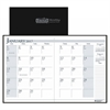 House of Doolittle Recycled Ruled 14-Month Planner, Leatherette Cover, 7x10, Black, 2016-2018