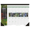 Recycled Waterfalls of the World Photo Monthly Desk Pad Calendar, 22 x 17, 2017