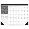 House of Doolittle Recycled Black-on-White Academic Desk Pad Calendar, 22 x 17, 2016-2017
