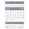 Recycled Bar Harbor Three-Months-per-Page Wall Calendar, 15 1/2 x 22, 2016-2018