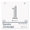 Recycled Today Wall Calendar Refill, 6 x 6, 2017