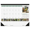 House of Doolittle Recycled Wild Birds Photographic Monthly Desk Pad Calendar, 18 1/2 x 13, 2017