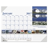 Recycled Earthscapes Photographic Monthly Desk Pad Calendar, 18 1/2 x 13, 2017