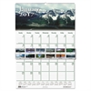 Recycled Scenic Beauty Monthly Wall Calendar, 15 1/2 x 22, 2017