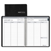 Recycled Weekly Appointment Book, Ruled without Times, 6 7/8 x 8.75, Black, 2017