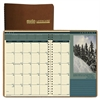 Recycled Landscapes Full-Color Monthly Planner, Ruled, 7 x 10, Brown, 2017