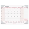 Recycled Breast Cancer Awareness Monthly Desk Pad Calendar, 18 1/2 x 13, 2017
