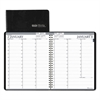 Recycled Professional Weekly Planner, 15-Min Appointments, 8.5 x 11, Black, 2017