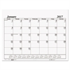 House of Doolittle Recycled One-Color Dated Monthly Desk Pad Calendar Refill, 22w x 17h, 2017