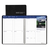 Recycled Earthscapes Weekly Appointment Book, 8-1/2 x 11, Black, 2017