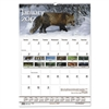Recycled Wildlife Scenes Monthly Wall Calendar, 15 1/2 x 22, 2017