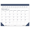 Recycled Two-Color Refillable Monthly Desk Pad Calendar, 22 x 18, 2017