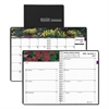 Recycled Gardens of the World Weekly/Monthly Planner, 7 x 10, Black, 2017