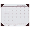 Recycled EcoTones Mountain Gray Monthly Desk Pad Calendar, 22 x 17, 2017