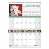 House of Doolittle Recycled Puppies Monthly Wall Calendar, 12 x 16 1/2, 2017