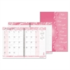 Recycled Breast Cancer Awareness Monthly Planner/Journal, 7 x 10, Pink, 2017