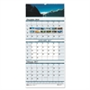 Recycled Scenic Landscapes Three-Months/Page Wall Calendar, 12.25x26, 2016-2018