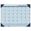 Recycled EcoTones Academic Desk Pad Calendar, 18.5wx13d, Blue Corners, 2016-2017