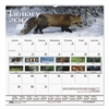 Recycled Wildlife Scenes Monthly Wall Calendar, 12 x 12, 2017