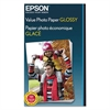 Epson Value Glossy Photo Paper, 9.1 mil, 4 x 6, White, 50 Sheets/Pack
